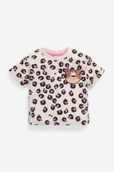 Animal Print Organic Cotton T-Shirt (3mths-7yrs)