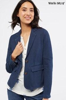White Stuff Blue Driffiled Jersey Blazer
