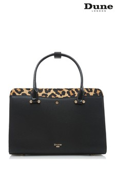 Dune London Leopard Dependriaa Large Boxy Tote