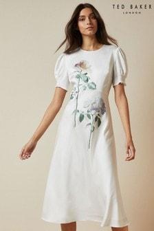 Ted Baker Fleu Bouquet Bias Cut Tea Dress