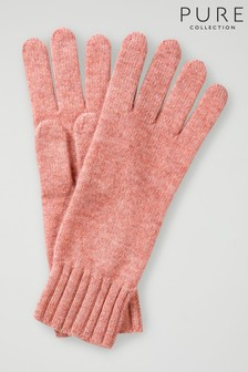 Pure Collection Pink Cashmere Gloves