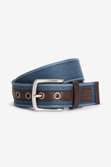 Webbed Belt With PU Trim