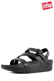 FitFlop™ Black The Skinny II Back Strap Sandal