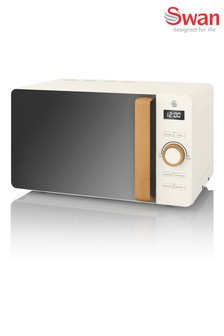 Nordic White Microwave by Swan