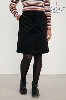Seasalt Cornwall Black May's Rock Skirt