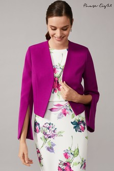 Phase Eight Purple Bridget Split Sleeve Occasion Jacket