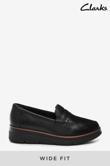 Clarks Black Leather Shaylin Step Shoes
