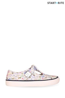 Start-Rite Summer Cream Floral Canvas Shoes