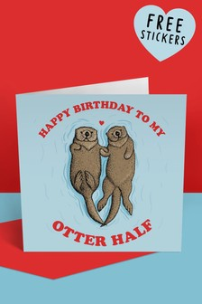 Central 23 Happy Birthday To My Otter Half Birthday Card