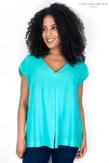 Live Unlimited Green Jade Pleat Front Blouse