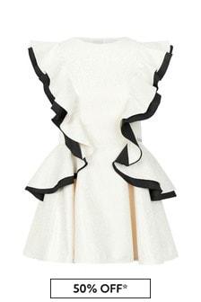 Jessie And James Girls Cream Butterfly Dress