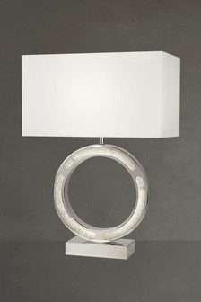 Iris Table Lamp With LED Base by Searchlight