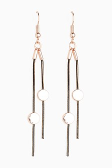 Sleek Tassel Drop Earrings