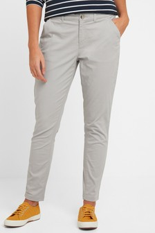 Tog 24 Womens Grey Pickering Long Chino Trousers