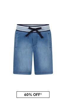 Dolce & Gabbana Kids Boys Blue Cotton Shorts