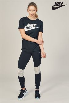 Nike Black Bone Mesh Legging