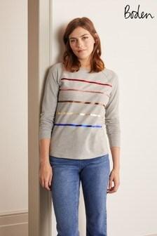 Boden Grey Lorna Baseball Jersey T-Shirt