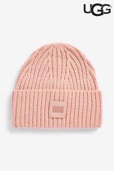 UGG® Pink Chunky Rib Beanie