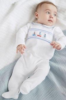 Smart Smock Detail Sleepsuit (0mths-2yrs)