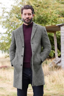 Herringbone Epsom Coat