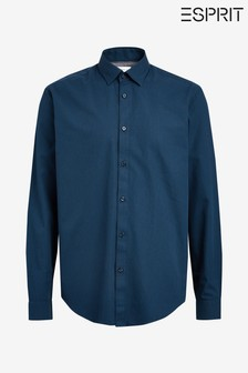 Esprit Blue Shirt With Micro Structure