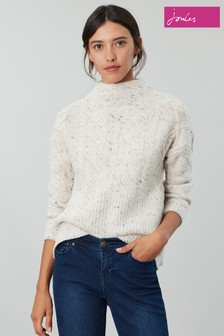 Joules Cream Joyce Cable Knit Jumper