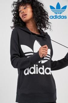 Siv pulover s kapuco adidas Originals Trefoil
