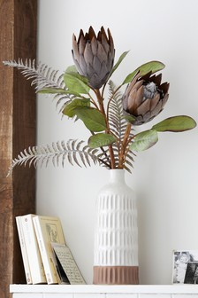 Artificial Protea in Vase
