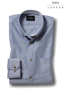Moss London Casual Skinny Fit Button Down Oxford Shirt
