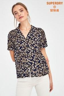 Superdry Leopard Print Vintage Shirt