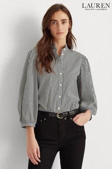Lauren Ralph Lauren® Black White Stripe Dalyza Blouse