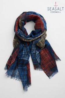 Seasalt Navy Pretty Printed Scarf
