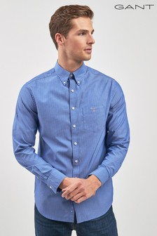 GANT Blue Broadcloth Pinstripe Shirt