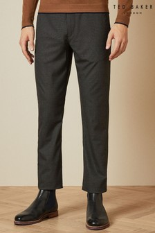Ted Baker Grey Samirar Slim Fit Semi Plain Trousers