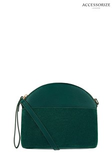 Accessorize Green Dani Dome Cross Body Bag