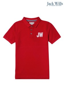 Jack Wills Boys Red Poloshirt