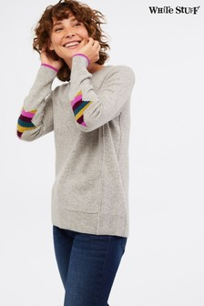 White Stuff Grey Cashmere Aliva Jumper