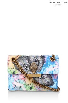 Kurt Geiger London Blue Mini Kensington Fabric Bag