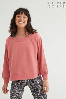 Oliver Bonas Active Pink Slouchy Sweatshirt