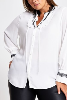 River Island White Funda Blouse