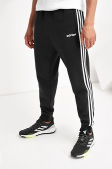 adidas Black Linear 3 Stripe Joggers