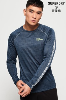 Superdry Active Microvent Long Sleeve T-Shirt