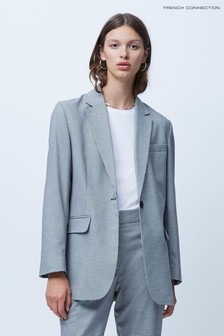 French Connection Houndstooth Suiting Boyfriend Jacket