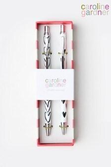 Caroline Gardner Mono Hearts Double Pen Set