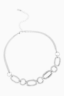 Pave Link Choker Necklace