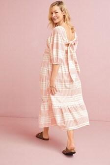 Maternity Tie Back Midi Dress