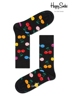 Happy Socks Black Cherry Print Socks