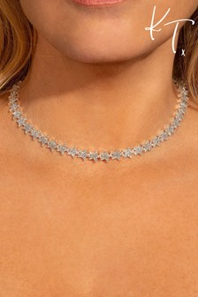 Kate Thornton 'Sparkling Stars' Silver Occasion Necklace
