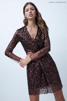 French Connection Emille Sparkle Short Dress