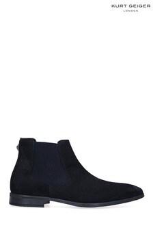 Kurt Geiger Frederick Eagle Navy Boots